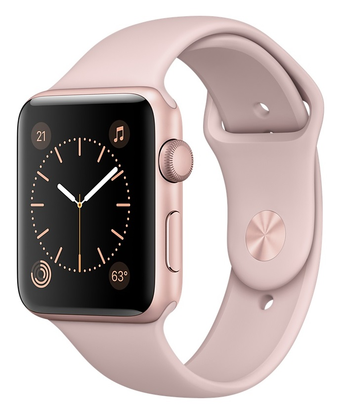Купить Apple Watch Sport Series 1 42mm Rose Gold with Pink Sand Sport Band в Ростове-на-Дону