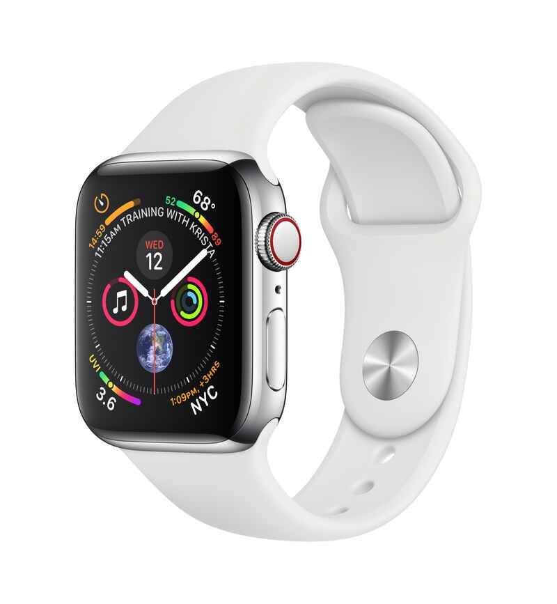 Купить Apple Watch Series 4 40mm Silver / Sport White в Ростове-на-Дону